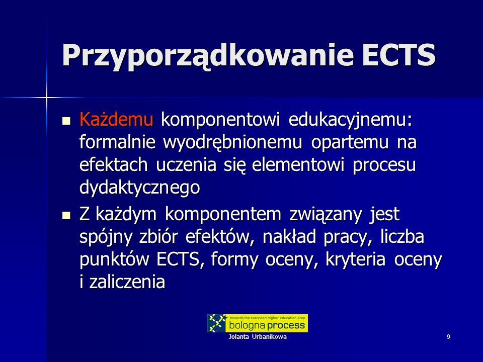 Przyporządkowanie ECTS