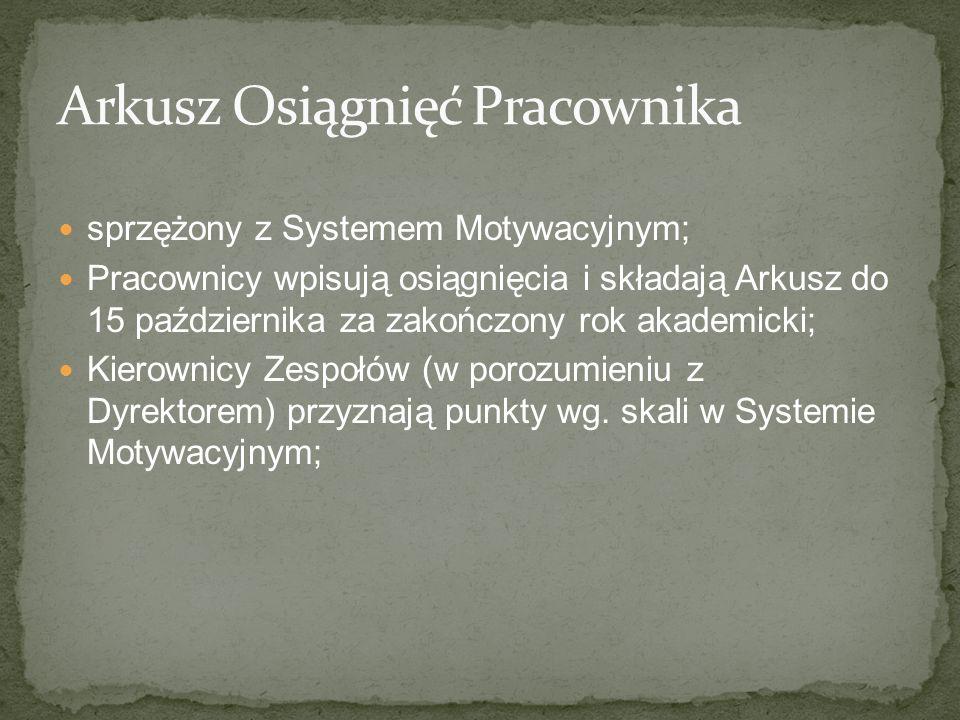 Arkusz Osiągnięć Pracownika