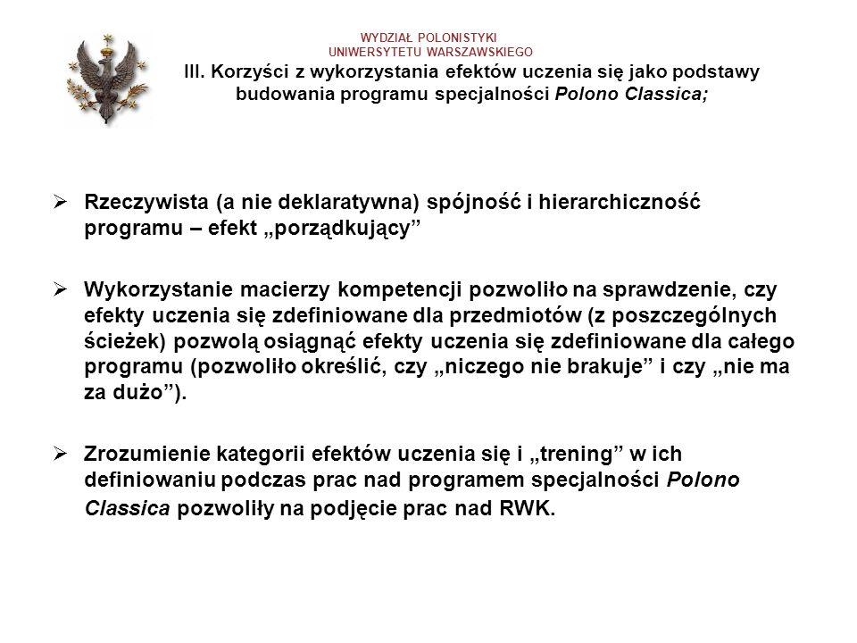 WYDZIAŁ POLONISTYKI UNIWERSYTETU WARSZAWSKIEGO. III