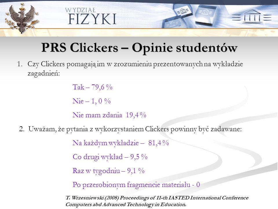 PRS Clickers – Opinie studentów