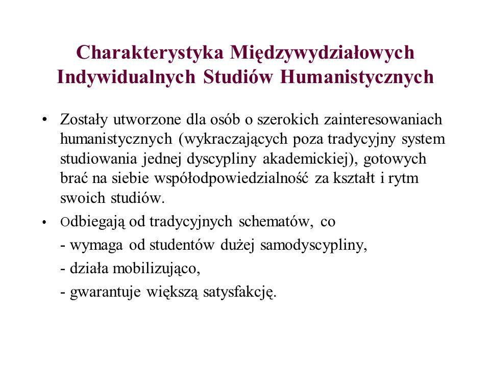 Charakterystyka Międzywydziałowych Indywidualnych Studiów Humanistycznych