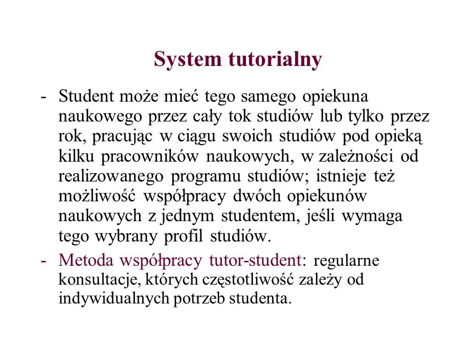 System tutorialny