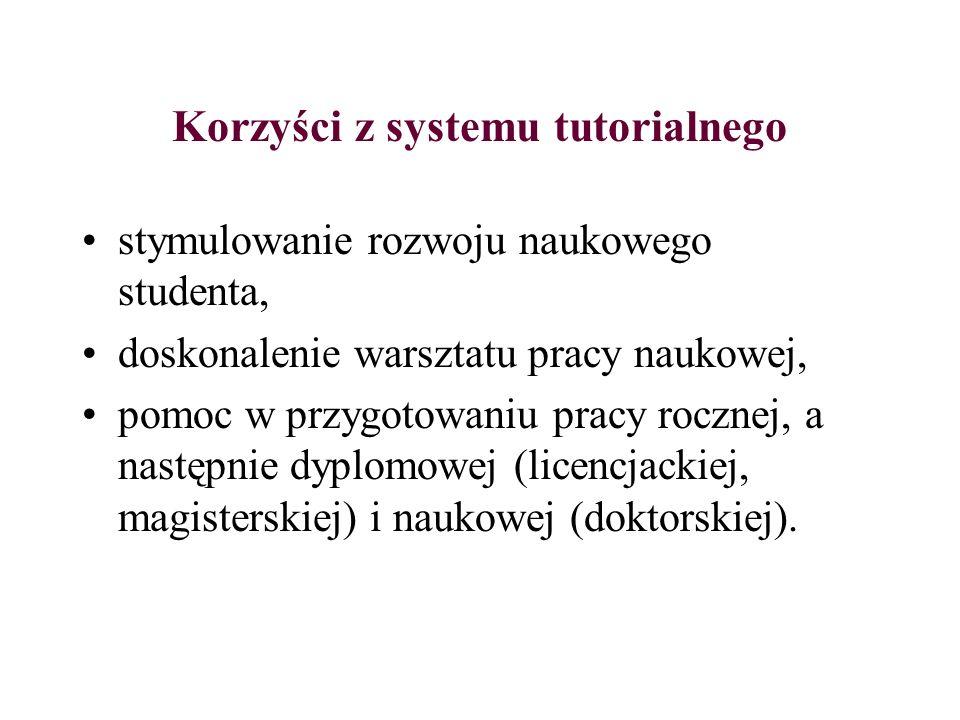Korzyści z systemu tutorialnego