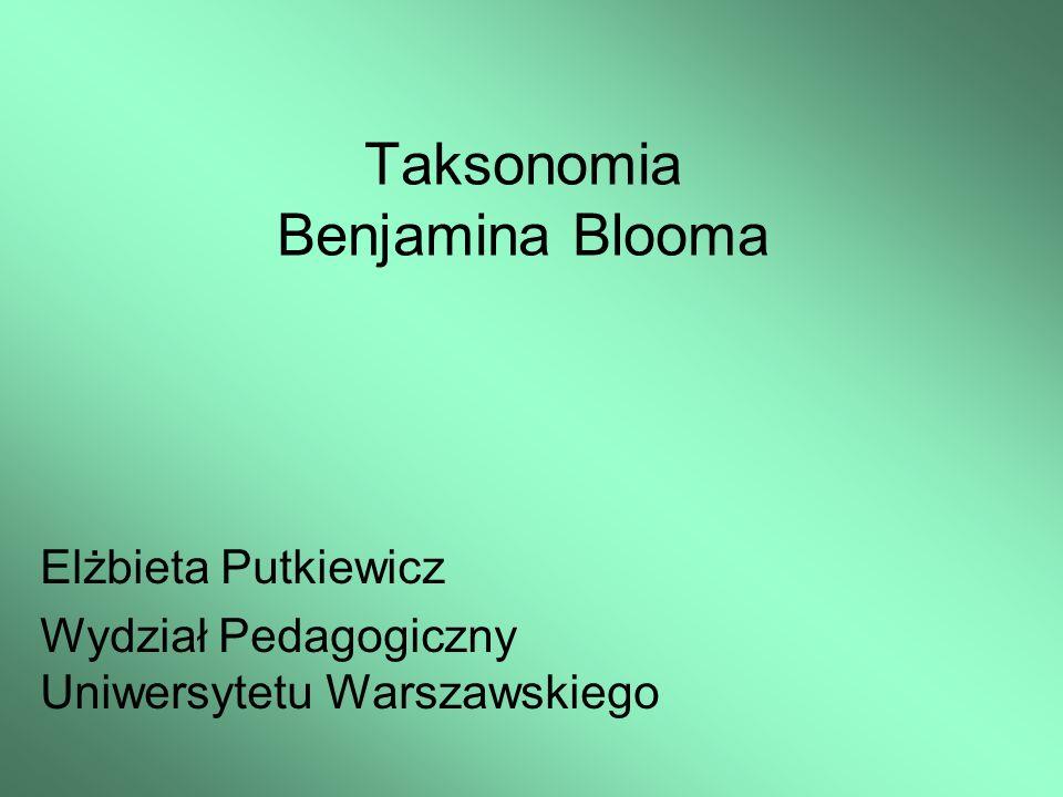 Taksonomia Benjamina Blooma