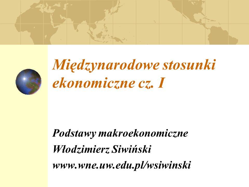 Międzynarodowe stosunki ekonomiczne cz. I