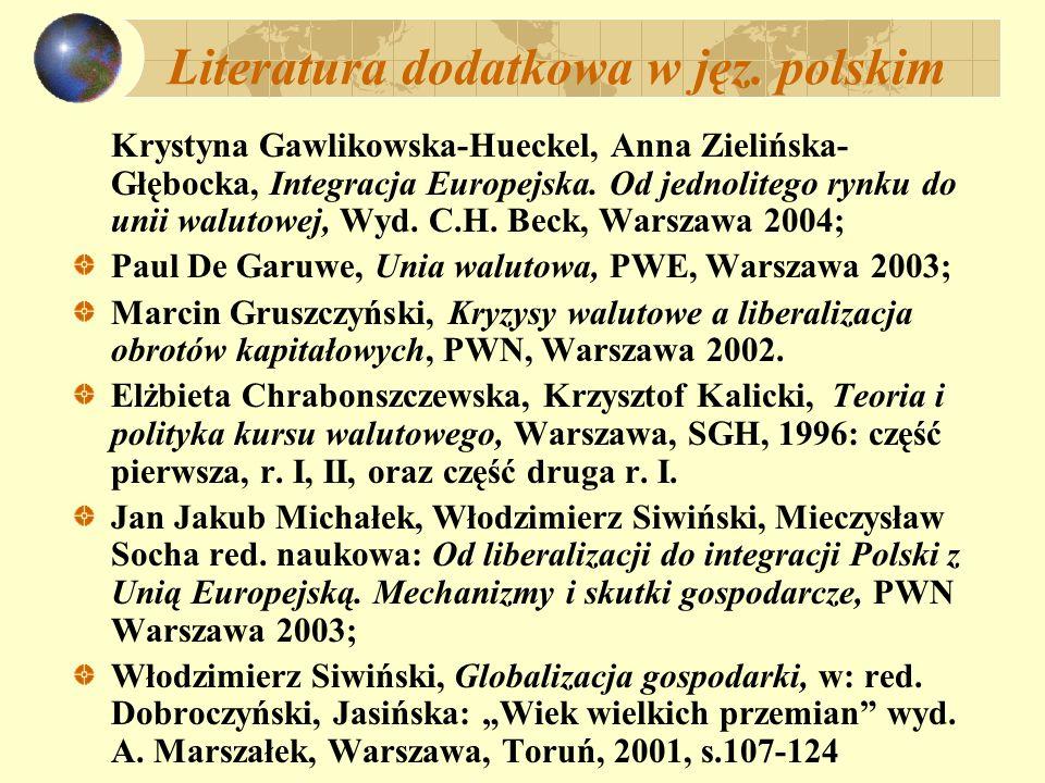 Literatura dodatkowa w jęz. polskim