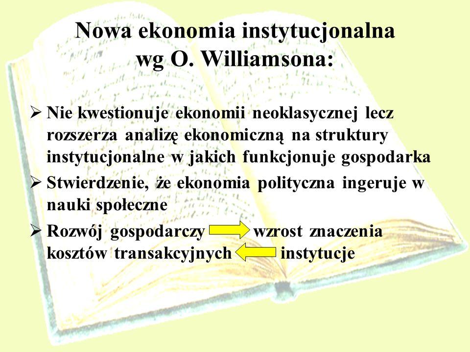 Nowa ekonomia instytucjonalna wg O. Williamsona: