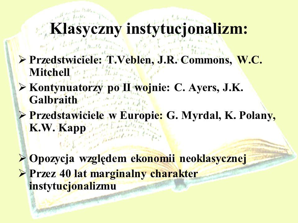 Klasyczny instytucjonalizm: