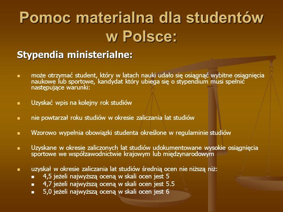 Pomoc materialna dla studentów w Polsce: