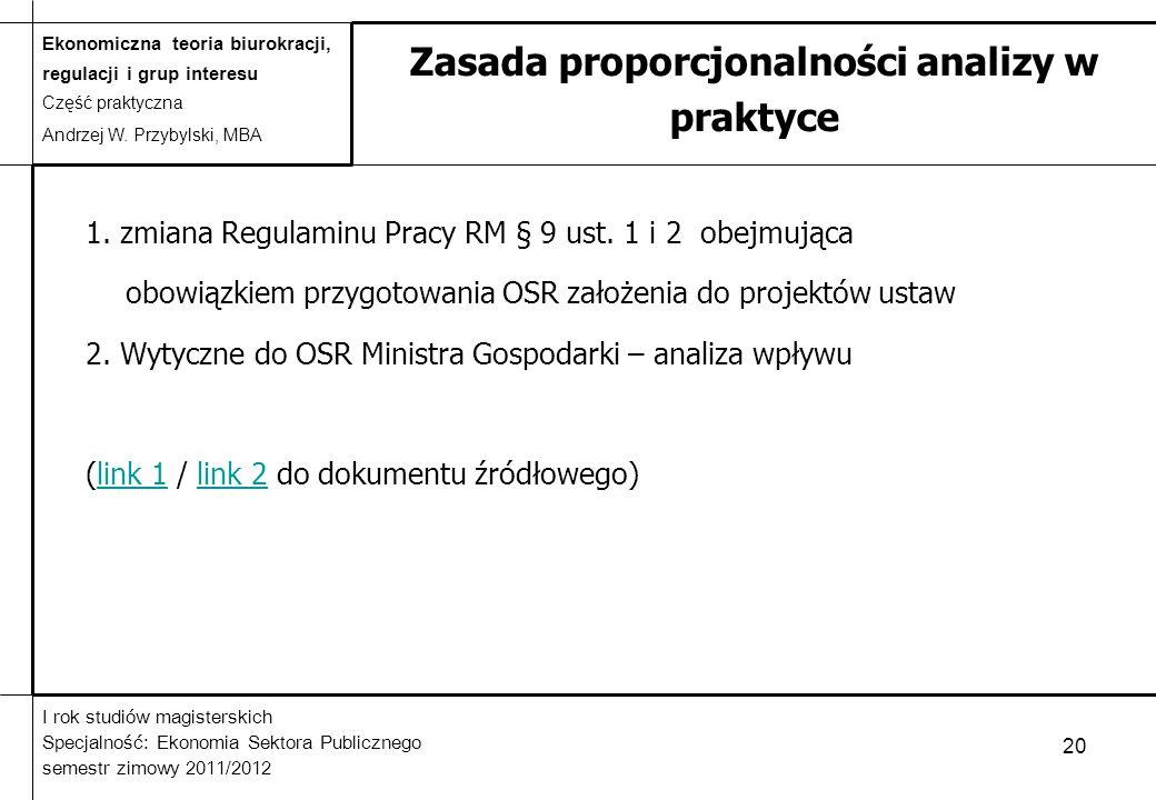 Zasada proporcjonalności analizy w praktyce