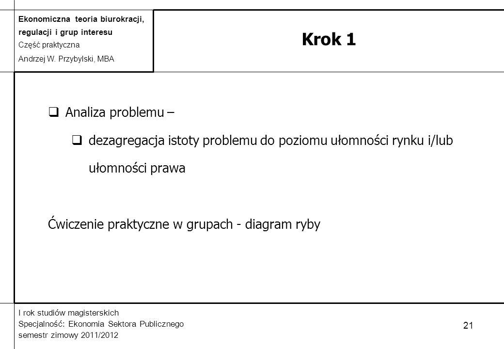 Krok 1 Analiza problemu –