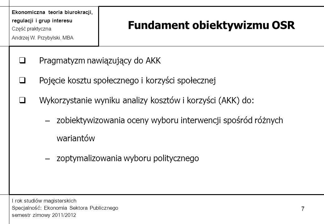 Fundament obiektywizmu OSR