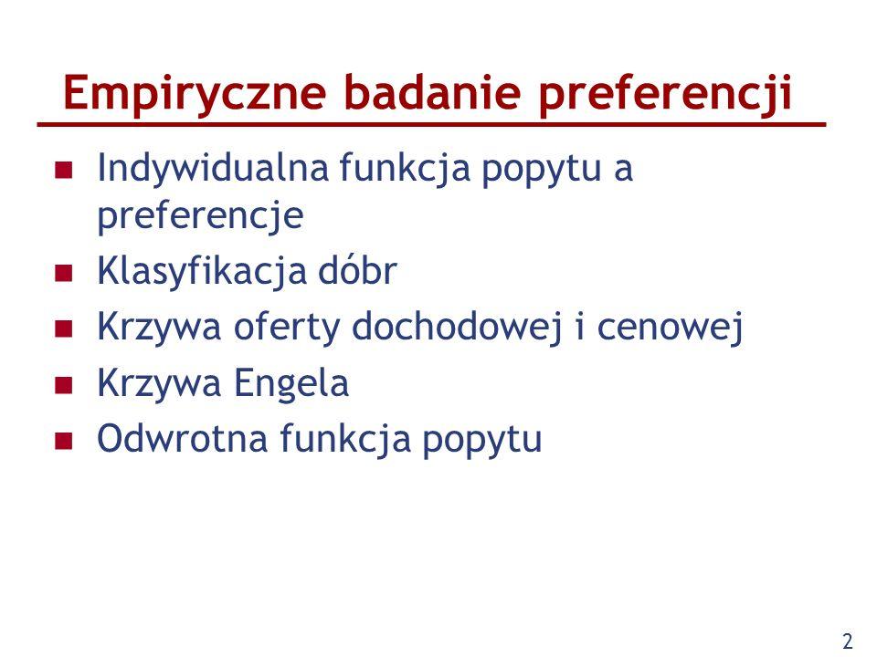 Empiryczne badanie preferencji