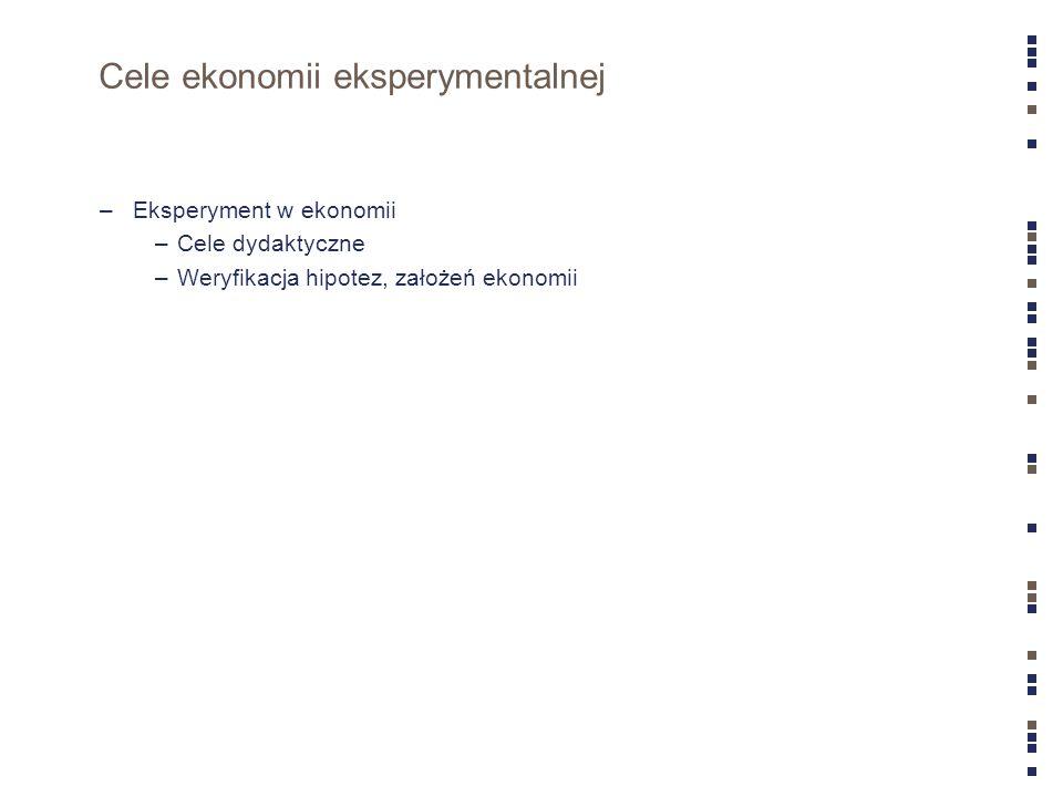 Cele ekonomii eksperymentalnej