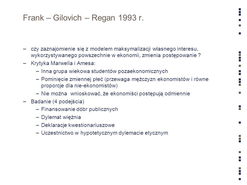 Frank – Gilovich – Regan 1993 r.