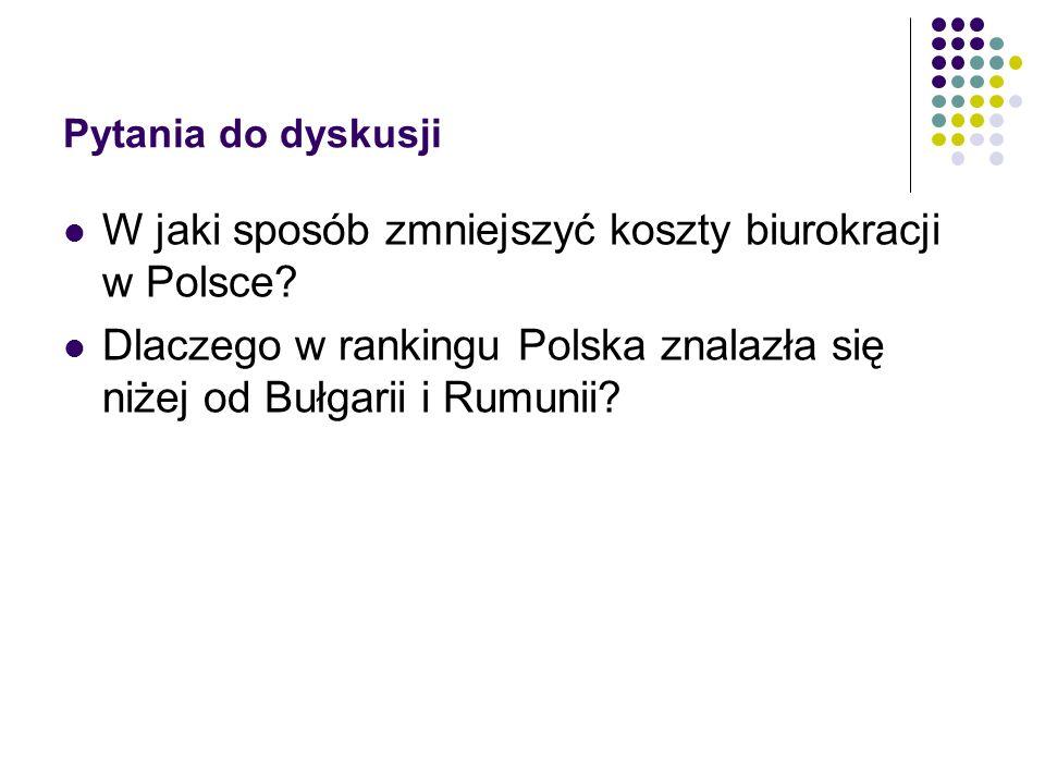 W jaki sposób zmniejszyć koszty biurokracji w Polsce