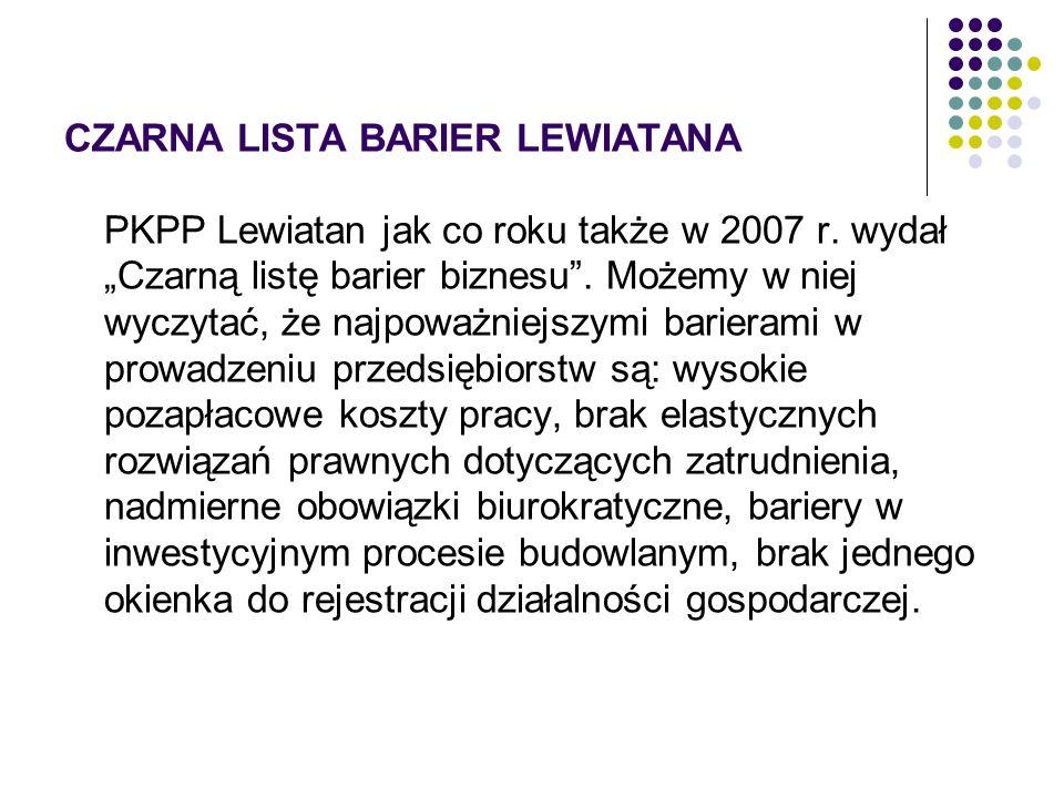 CZARNA LISTA BARIER LEWIATANA