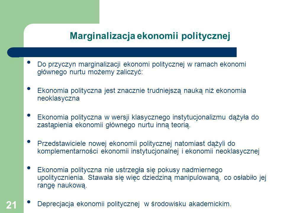 Marginalizacja ekonomii politycznej