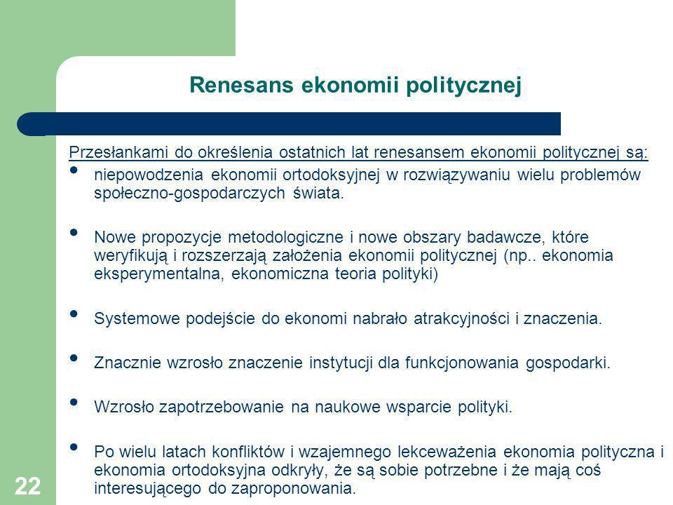 Renesans ekonomii politycznej