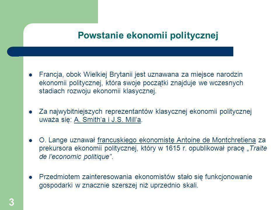 Powstanie ekonomii politycznej