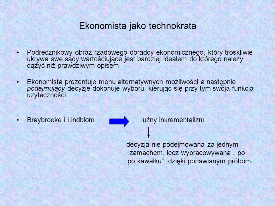 Ekonomista jako technokrata