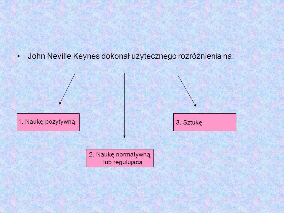 John Neville Keynes dokonał użytecznego rozróżnienia na: