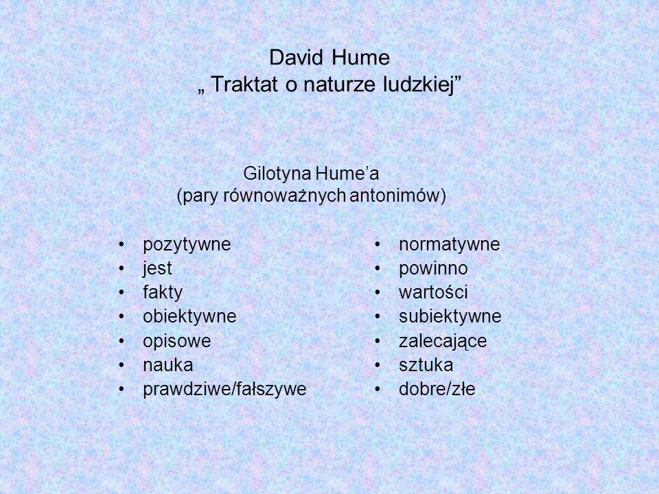 """David Hume """" Traktat o naturze ludzkiej"""