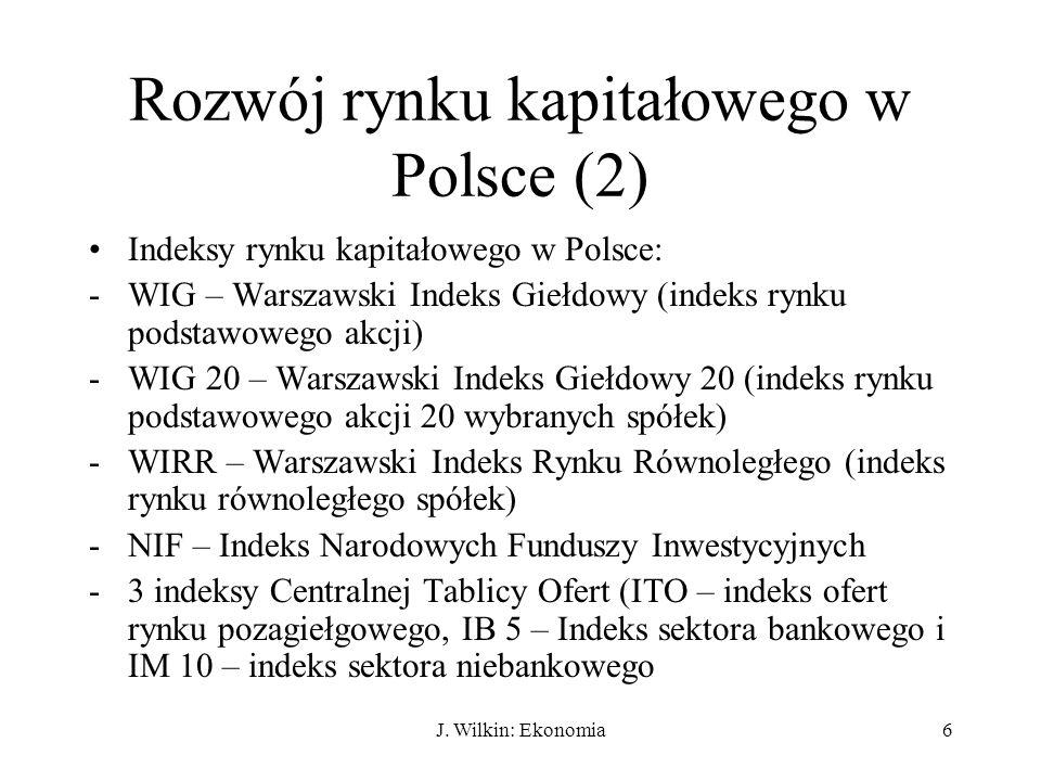 Rozwój rynku kapitałowego w Polsce (2)