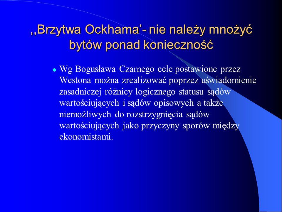 ,,Brzytwa Ockhama'- nie należy mnożyć bytów ponad konieczność