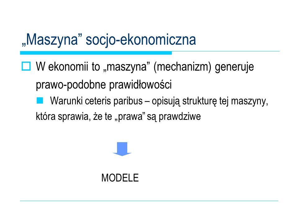 """""""Maszyna socjo-ekonomiczna"""