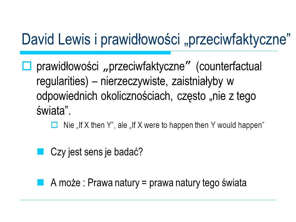 """David Lewis i prawidłowości """"przeciwfaktyczne"""