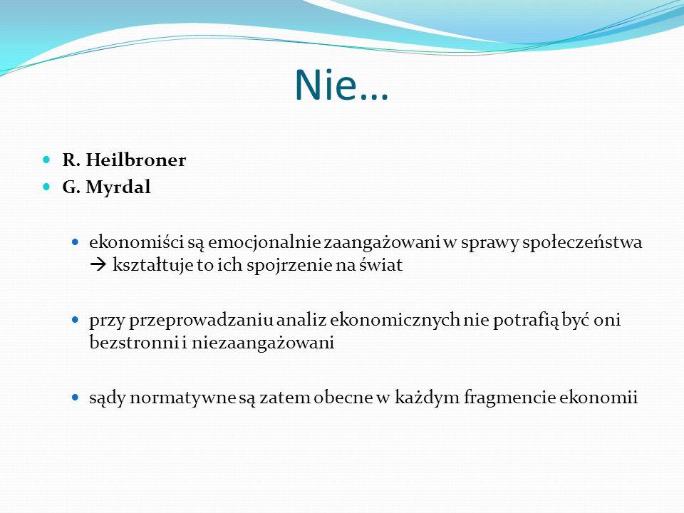 Nie… R. Heilbroner G. Myrdal