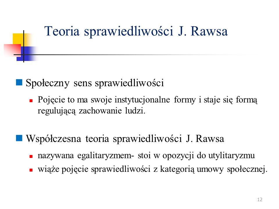 Teoria sprawiedliwości J. Rawsa