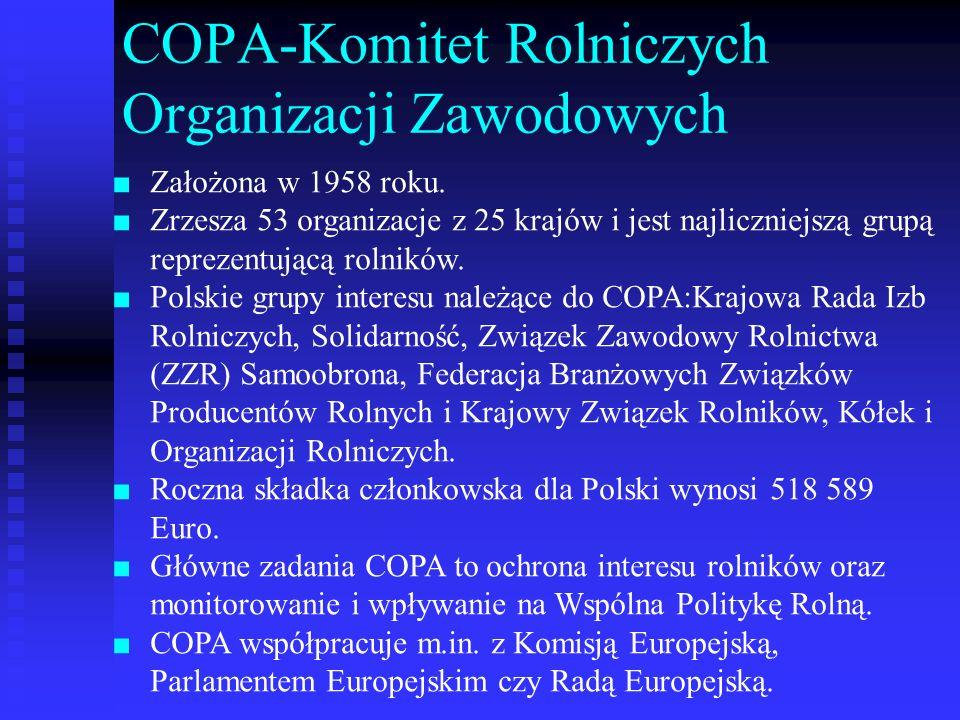 COPA-Komitet Rolniczych Organizacji Zawodowych