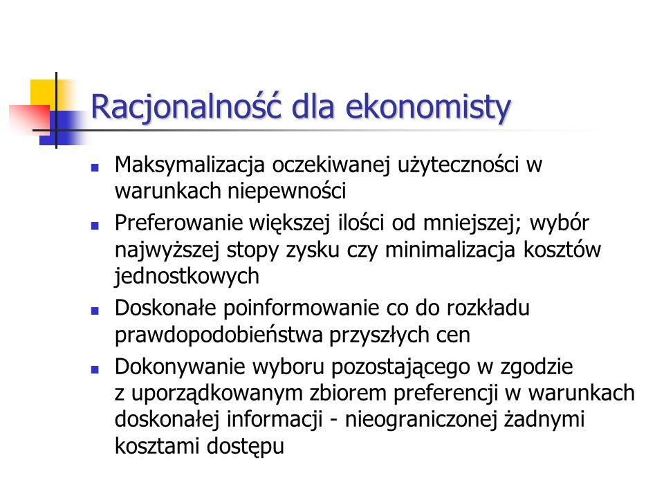 Racjonalność dla ekonomisty