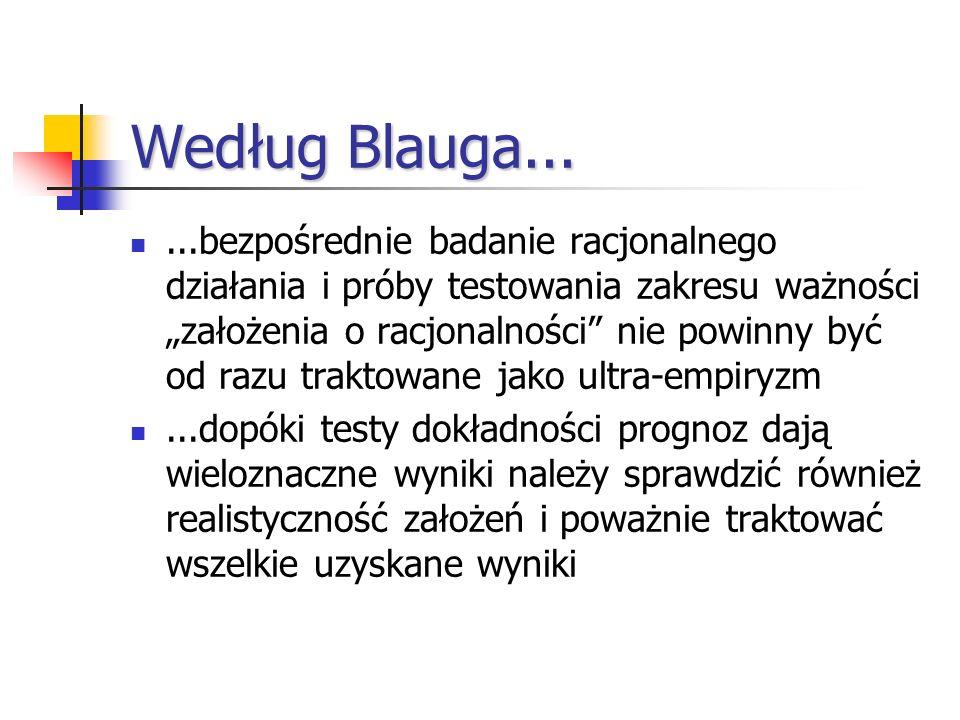 Według Blauga...