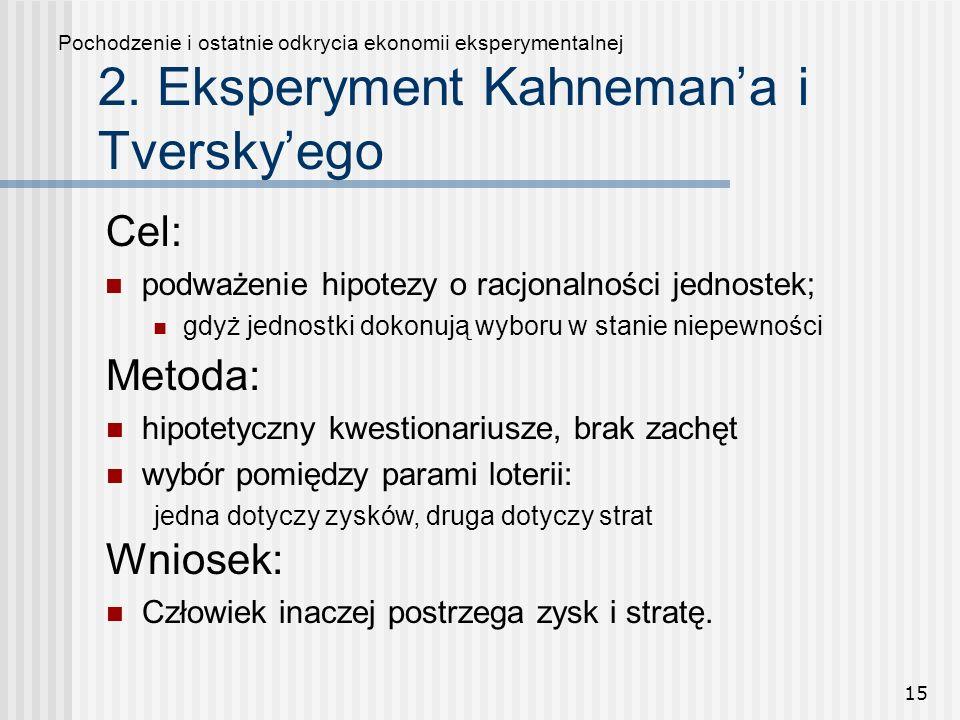 2. Eksperyment Kahneman'a i Tversky'ego