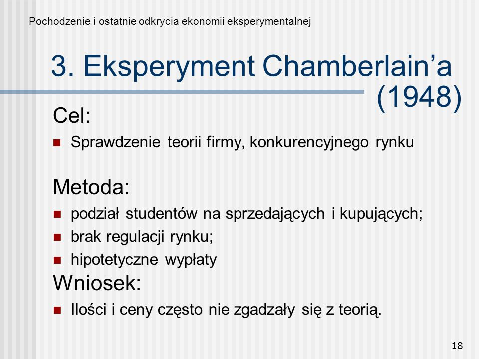 3. Eksperyment Chamberlain'a