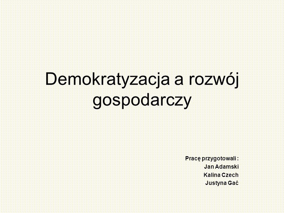 Demokratyzacja a rozwój gospodarczy