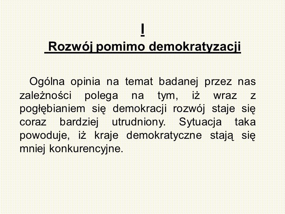 I Rozwój pomimo demokratyzacji