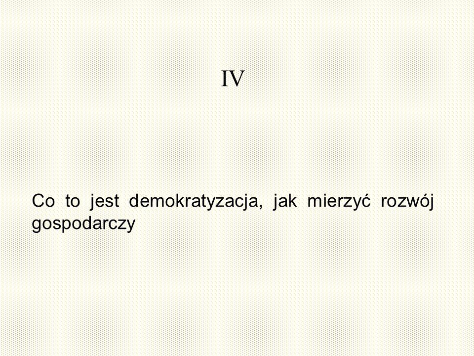 IV Co to jest demokratyzacja, jak mierzyć rozwój gospodarczy