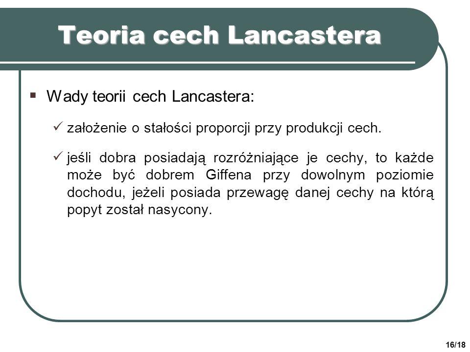 Teoria cech Lancastera