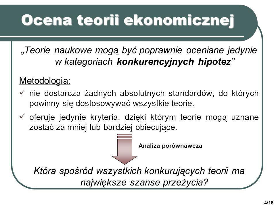 Ocena teorii ekonomicznej