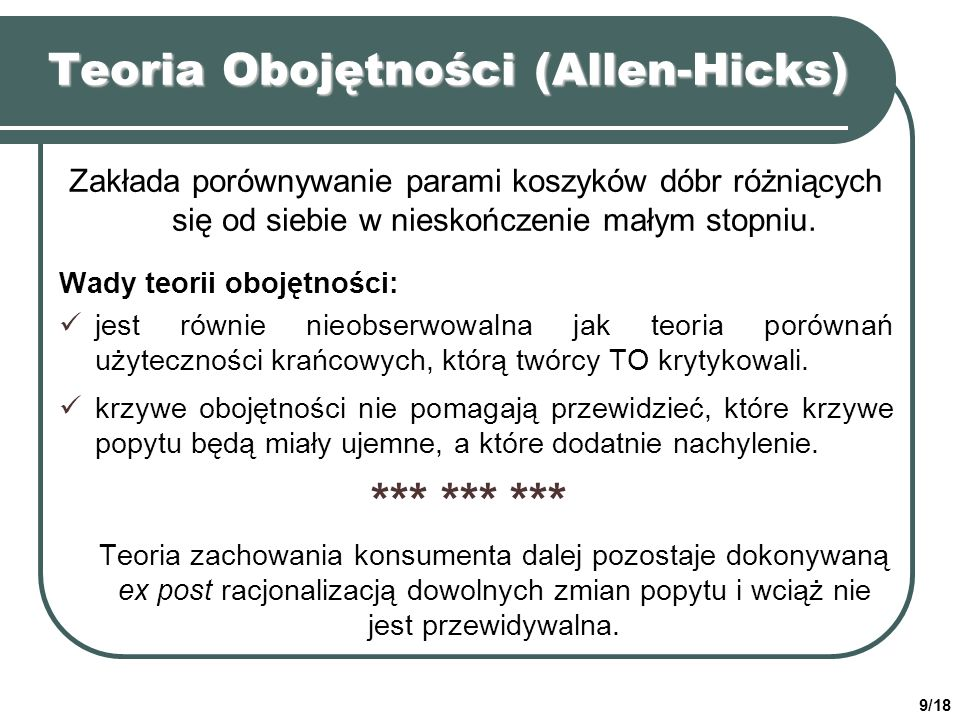 Teoria Obojętności (Allen-Hicks)