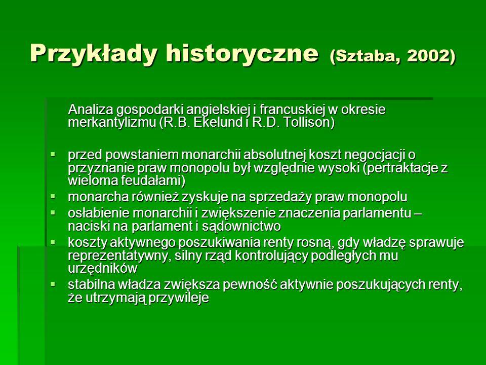 Przykłady historyczne (Sztaba, 2002)