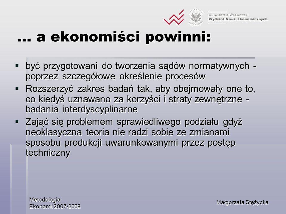… a ekonomiści powinni: