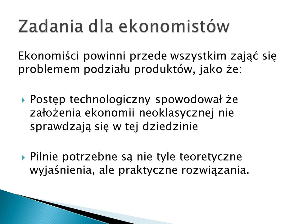 Zadania dla ekonomistów