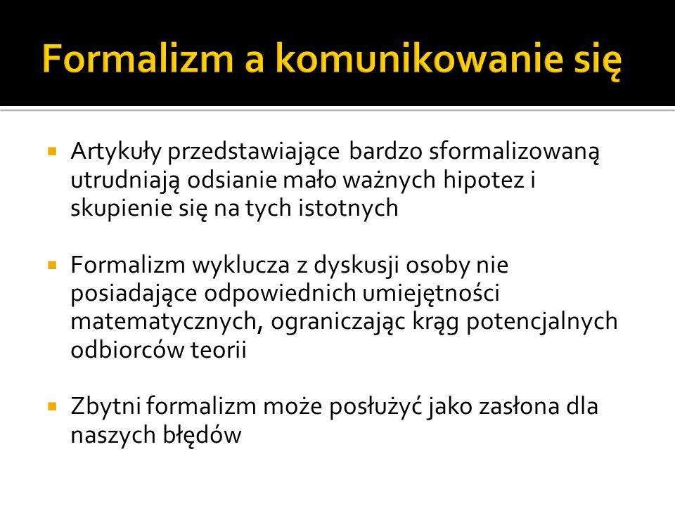 Formalizm a komunikowanie się