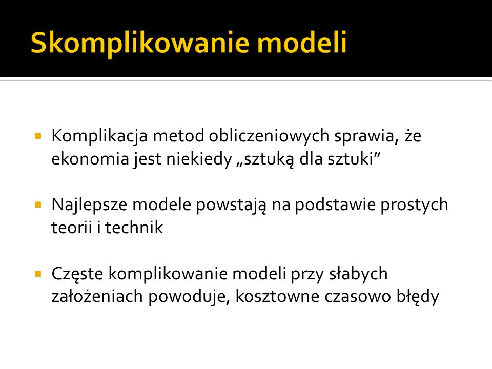 Skomplikowanie modeli