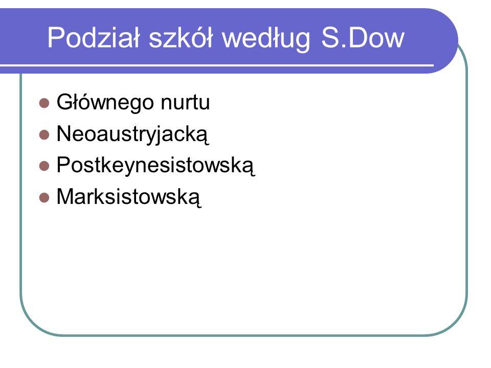 Podział szkół według S.Dow